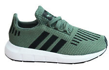 Adidas Originals Swift Run I Kids Trainers Green Textile Lace Up CP9463 U 23