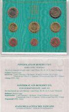 2013 Vaticano Set Divisionale Euro Completa 8 Monete Papa Benedetto XVI FDC UNC