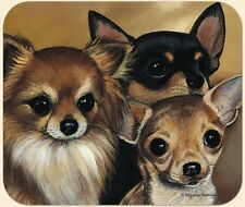 MOUSE PAD-Chihuahua Portrait--Polyester Front Neoprene Back **Beautiful**