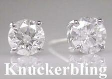Butterfly Platinum Excellent Cut Fine Diamond Earrings