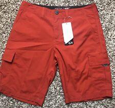 NWT Mens Mountain HardWear Castil Cargo Short Red/Orange Size 38/48