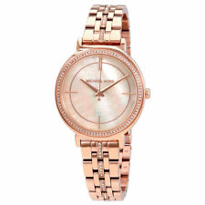 Michael Kors MK3643 Cinthia MOP Crystal Rose-tone Stainless Steel Womens Watch