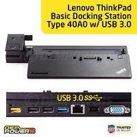 Lenovo ThinkPad Basic Dock Station 40A0 USB 3.0 - L540 L560 P50s T550 T560 X240
