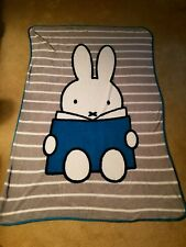 """Miffy Rabbit Plush Throw Blanket 43"""" x 62"""" Soft Pre-owned Jay Franco and Sons"""