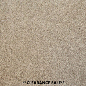 Clearance   Saxony Malibu Carpet Beige Action Backed Flecked Carpets Fast P&P