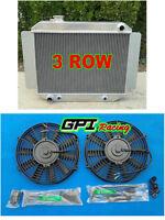 3ROW Aluminum RADIATOR +fan Holden Kingwood Torana HG HQ HJ HX HZ V8 253 308
