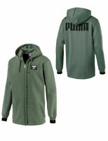Puma Mens Rebel Block Full Zip Hoodie Sweatshirt Khaki 852401 23