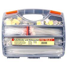 700 Kabelbinder und Klebesockel, Set im Koffer, Kabelbefestigung von Tifler
