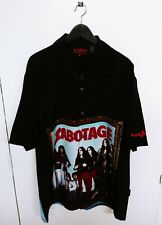 Vtg 2003 Black Sabbath Sabotage Dragonfly Button Up Shirt Size (XL)