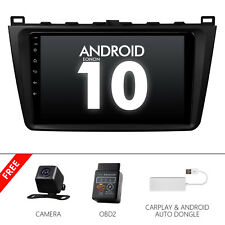 """CAM+OBD+CarPlay+9"""" Car Stereo Touch Screen GPS Android 10 For Mazda 6 2011 2012"""