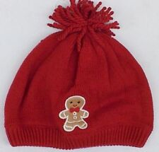 NWT GYMBOREE GINGERBREAD BOY RED LINED WINTER HAT BOY 6-12 mo  Free US Shipping