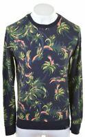 SCOTCH & SODA Mens Sweatshirt Jumper Large Multicoloured Floral Cotton  MB03