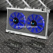 "2-ROW ALUMINUM RADIATOR+2X 12""FAN BLUE FOR 91-99 SENTRA B13/B14 200SX/NX 1.6/2.0"