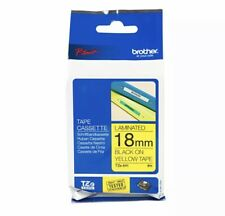Brother P-touch TZe-641 (18mm x 8m) Black On Yellow Laminated Labelling Tape