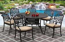 New 7 piece patio dining set Cast Aluminum Garden Furniture Outdoor - ELISABETH