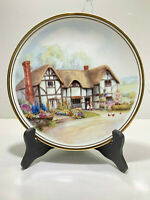 Royal Kent Bone China Staffordshire England Cottage Plate Gold Trim