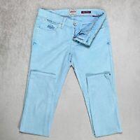 Womens SUPERDRY Super Skinny Jeans Size W25 L31 Stretch denim sky blue Denim