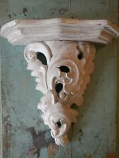 Shabby Hand Made Wood Corbel Floating Shelf White Painted Made in Thailand 13""