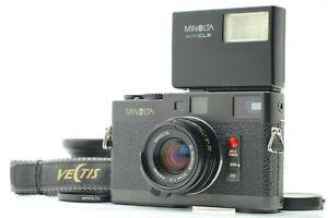【MINT w/ Flash】 Minolta CLE + M Rokkor 40mm f/2 Late Lens + Hood Cap From JAPAN