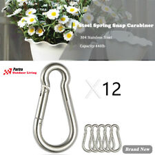 New listing Stainless Steel Spring Snap Hook Carabiner - 304 Stainless Steel Clips Set of 12