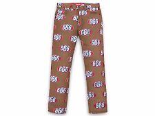 2017 Supreme 666 Denim Pants Brown Size 34