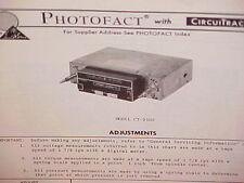 1977 Cartape 8-Track Stereo Tape Player/Am-Fm/Mplx Radio Service Manual Ct-9300