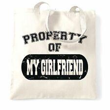 Valentine/'s Day T Shirt propriété de ma petite amie vieilli couples Blague