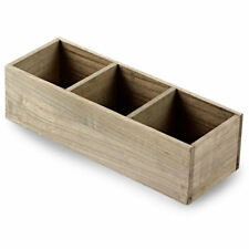 BarBits Wooden Table Caddy 3 Compartments Condiment Holder Souce Bottle Storage