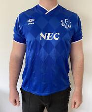 Everton Umbro Home Retro Football Shirt 1986 Size M