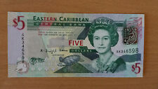 East Caribbean States 5 dollars 2008 UNC!!!