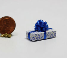 Dollhouse Miniature Jewish Chanukah Gift with Blue Bow by Dollhouse Shoppe