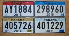 LOT of 4 PANAMA LICENSE PLATES - 2011 - 2014 - 2015 - 2016