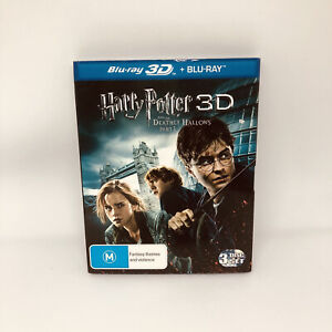 HARRY POTTER AND THE DEATHLY HALLOWS PT 1 3D Blu-ray VERY GOOD CONDITION