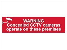 Scan-advertencia Oculta CCTV cámaras funcionan en estas instalaciones-PVC 200 X 50mm