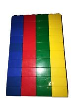 LEGO DUPLO Building Toys: Bulk RED BLUE GREEN YELLOW 2x2 Brick Lot *40 Blocks*