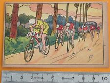 1920-1930 CHROMO GRANDE IMAGE ECOLE BON-POINT SERIE SPORTS CYCLISME TOUR FRANCE