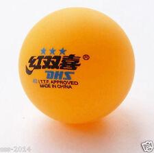 3 Boxes (18 Pcs) 3 Stars DHS 40 MM Olympic Table Tennis Orange Ping Pong Balls