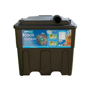 HOZELOCK ECOCEL 2500 FISH POND FILTER SYSTEM WITH MEDIA BLACK BOX GRAVITY
