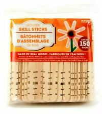 Horizon Group Wooden Skill Craft Sticks Made of Real Wood - 150 Piece Pack