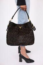 PRADA 'Cavallino Leopard Hobo Bag'
