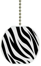Zebra Print Animal Print Solid CERAMIC Ceiling Fan Light Lamp Pull