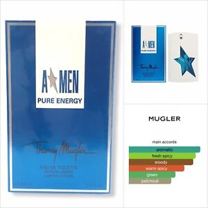 A*Men Pure Energy EDT LIMITED EDITION by Thierry Mugler 3.4oz/100ml (Angel Men)