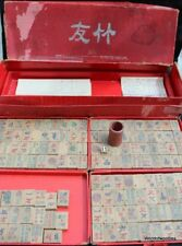 Mahjong Set By Chad Valley  with Original  Box Vintage Mah Johgg