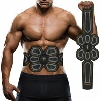 Abdominal Electro Stimulator USB Charged ABS Trainer Home Workout Toning Belts