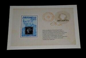 MAURITIUS #487, 1979, SIR ROWLAND HILL, SOUVENIR SHEET, MNH, NICE LQQK