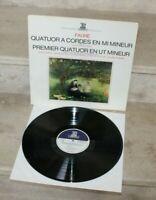 LP 33 tours /  fauré- quatuor a cordes en mi mineur... (erato STU 70551)