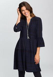 Boysen's Jerseykleid mit Volants, marine-schwarz. NEU!!! SALE%%%