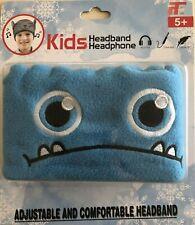 New Blue Monster Kids Children's Headband Headphones