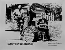 BLUES PUBLICITY PHOTO: SONNY BOY WILLIAMSON Houston Stackhouse Peck Curtis repro