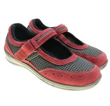 Orthofeet Womens Chattanooga 859 Mary Jane X-Wide Red 2 Way Strap Shoes 6.5 2E